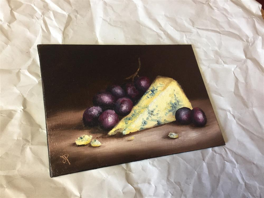 """Stilton with grapes"" original fine art by Jane Palmer"