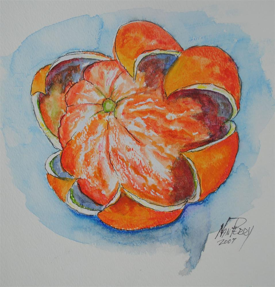 """Orange"" original fine art by Nan Perry"