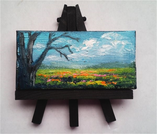 """""""Tree and wildflowers"""" original fine art by Camille Morgan"""