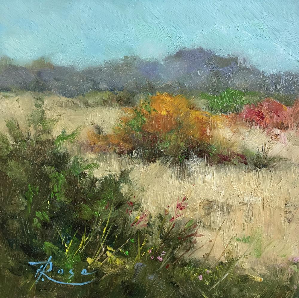 """Bay side view"" original fine art by Howard Rose"