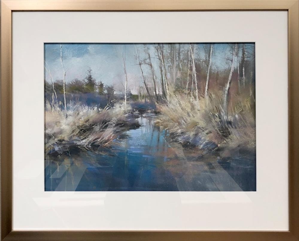 """Rock Creek Winter "" original fine art by Barbara Benedetti Newton"