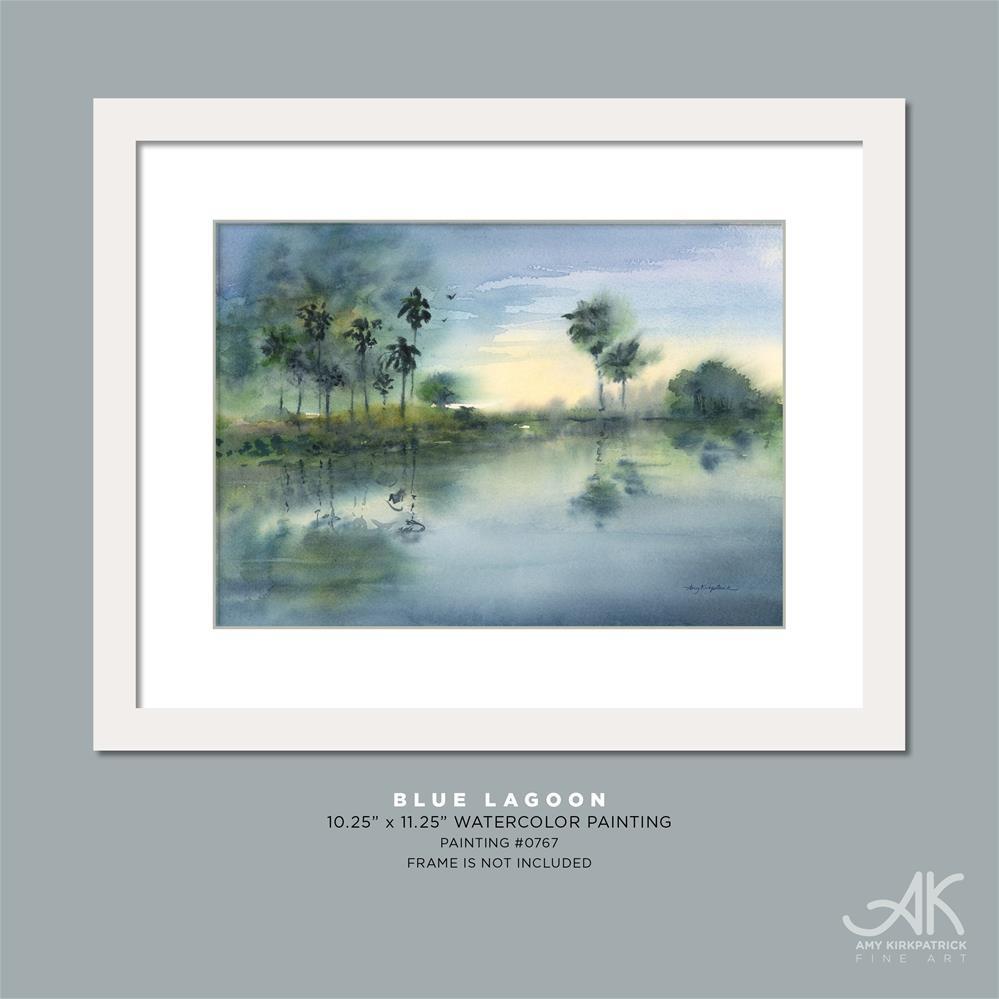 """BLUE LAGOON #0770"" original fine art by Amy Kirkpatrick"