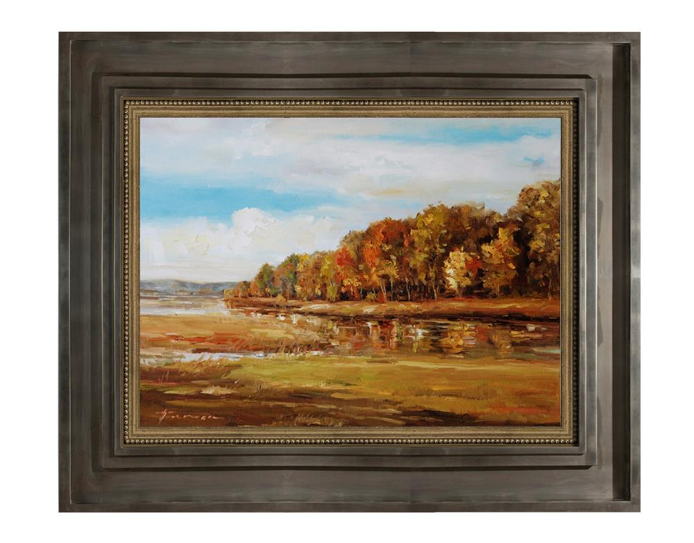 """Landscape with water"" original fine art by Teresa Yoo"