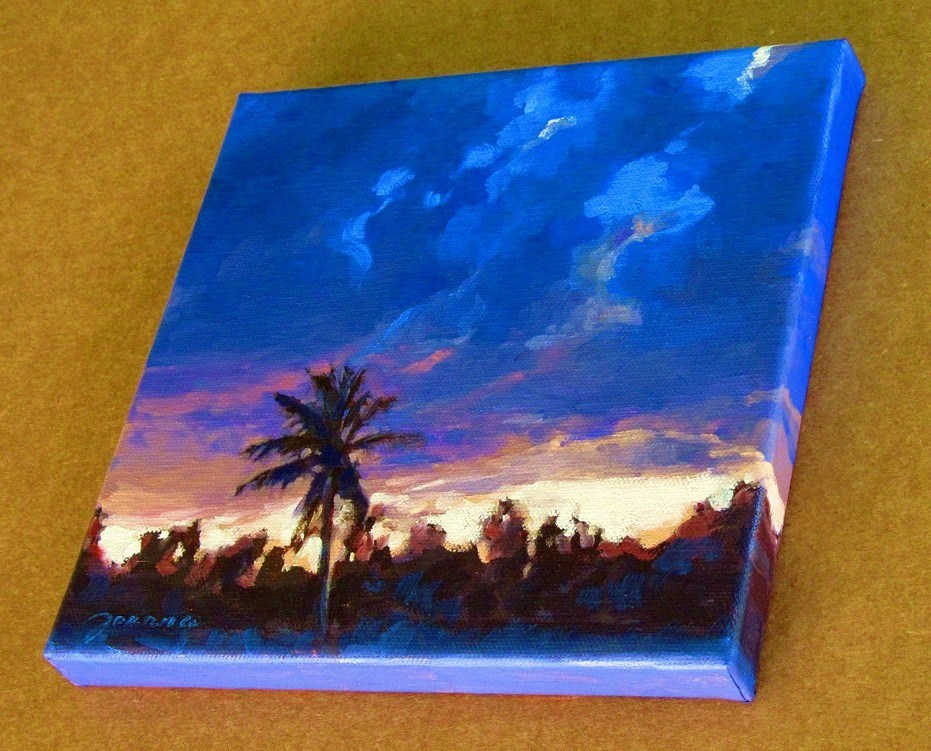 """Sunset Storm--The Stormy Weather Challenge"" original fine art by Joanna Bingham"