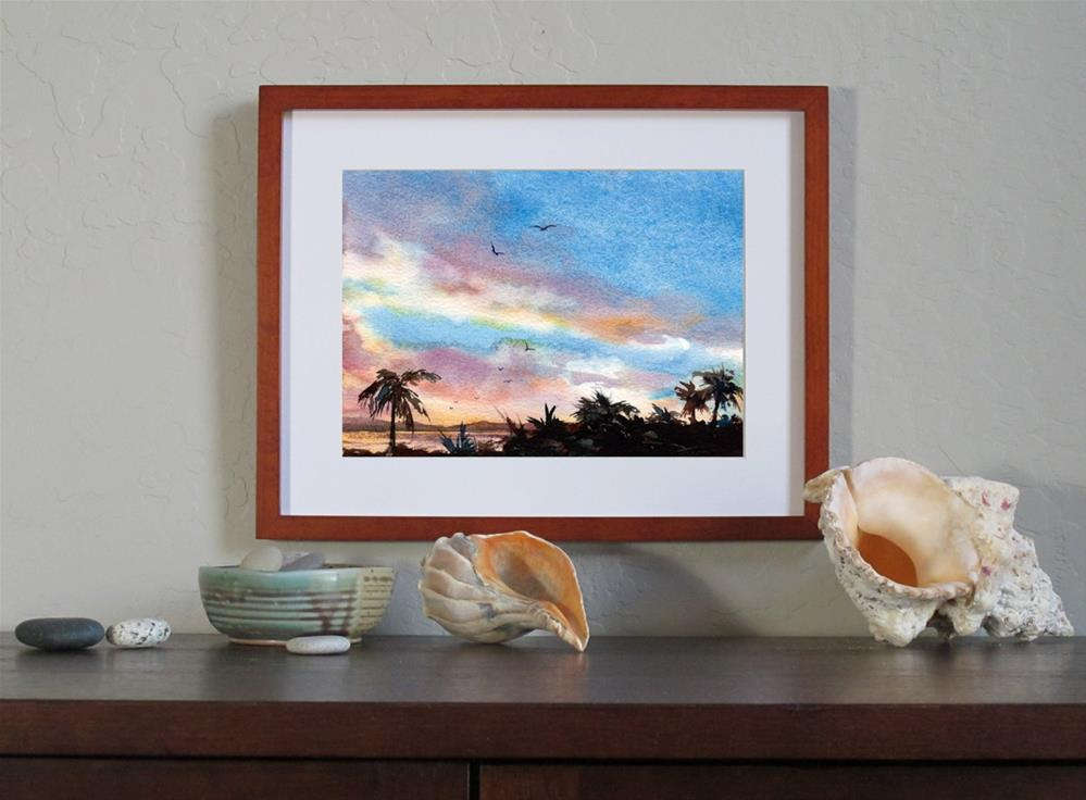 """Tropical Breeze"" original fine art by Linda Henry"