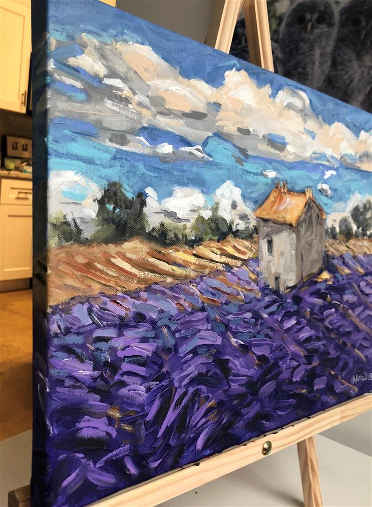 """Lavender Field in Provence"" original fine art by Alina Vidulescu"