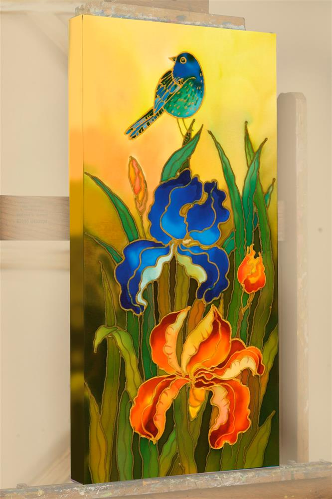 """Blue Bird"" original fine art by Yelena Sidorova"