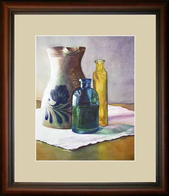 """Tranquility in Blue and Gold"" original fine art by Kara K. Bigda"