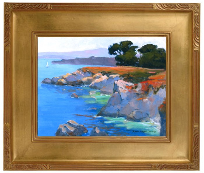"""Pacific Grove Coast"" original fine art by Rhett Regina Owings"
