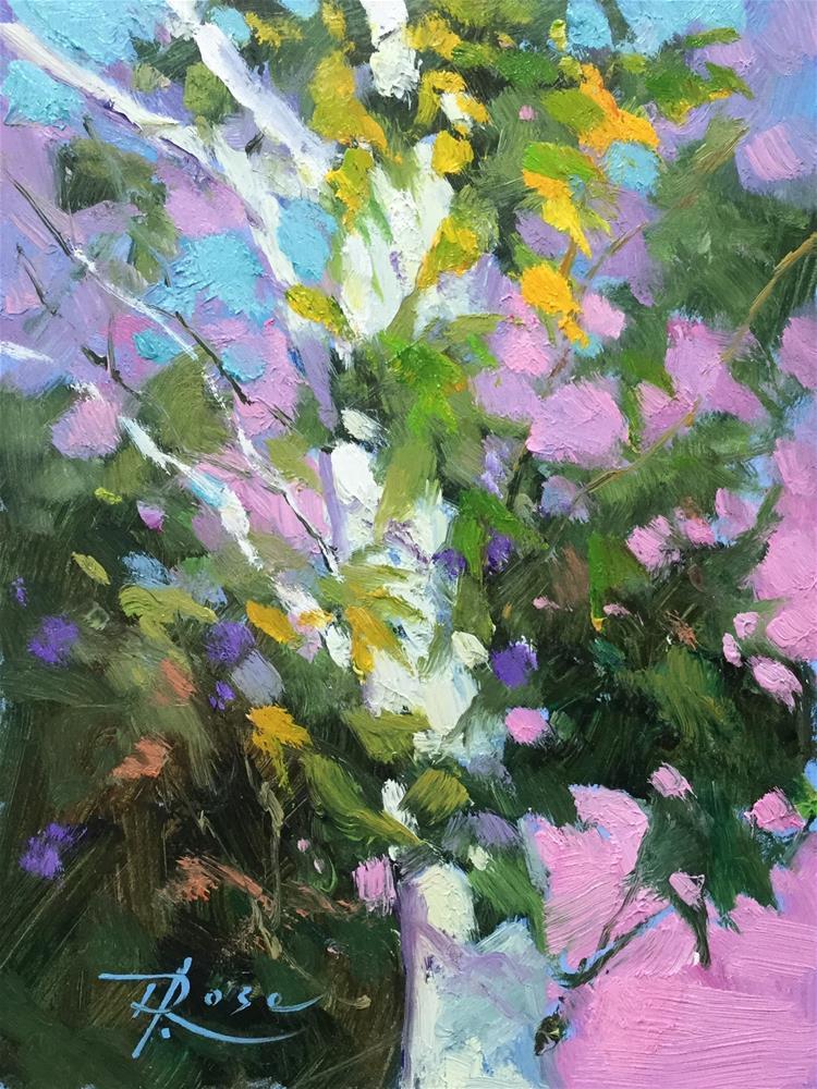 """Birch at Planting Fields"" original fine art by Howard Rose"