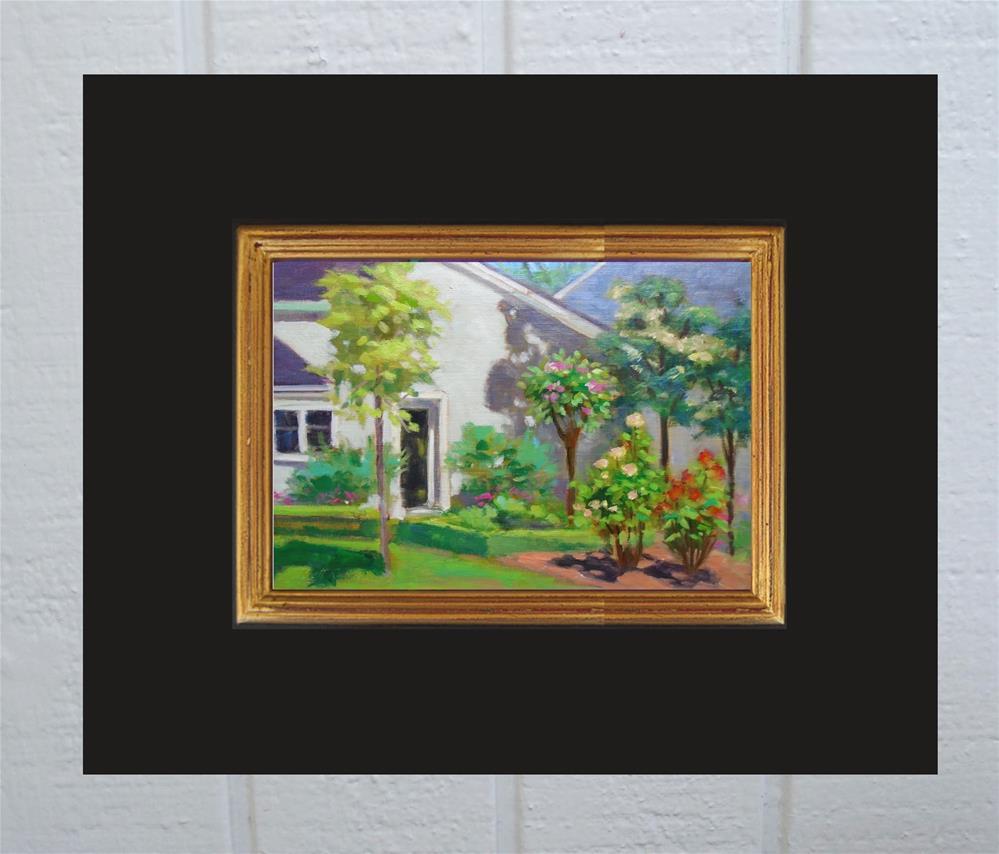"""A Classic Rose Garden"" original fine art by Rhett Regina Owings"