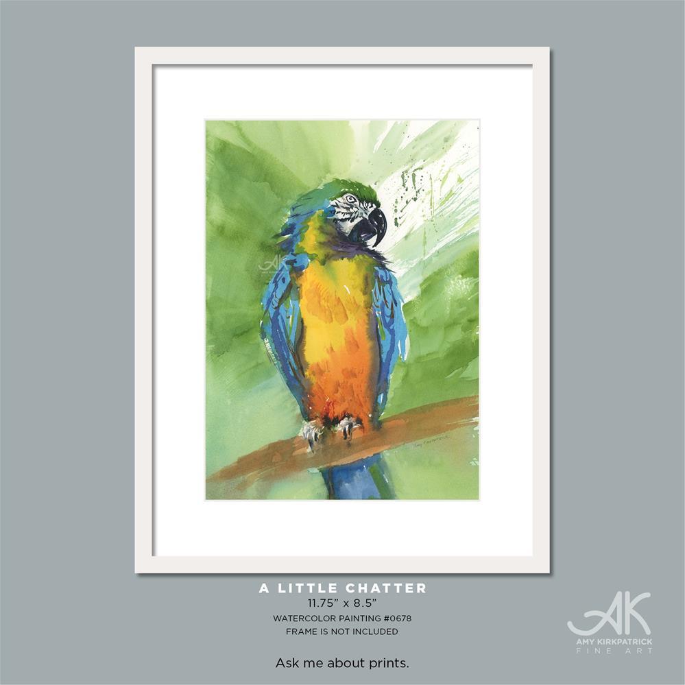 """""""A LITTLE CHATTER #0678"""" original fine art by Amy Kirkpatrick"""