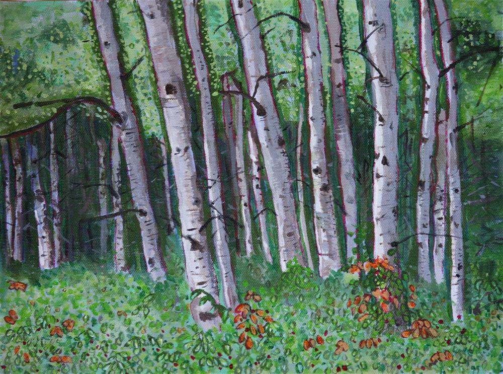 """Tranquility"" original fine art by Terri-Anne Barge"