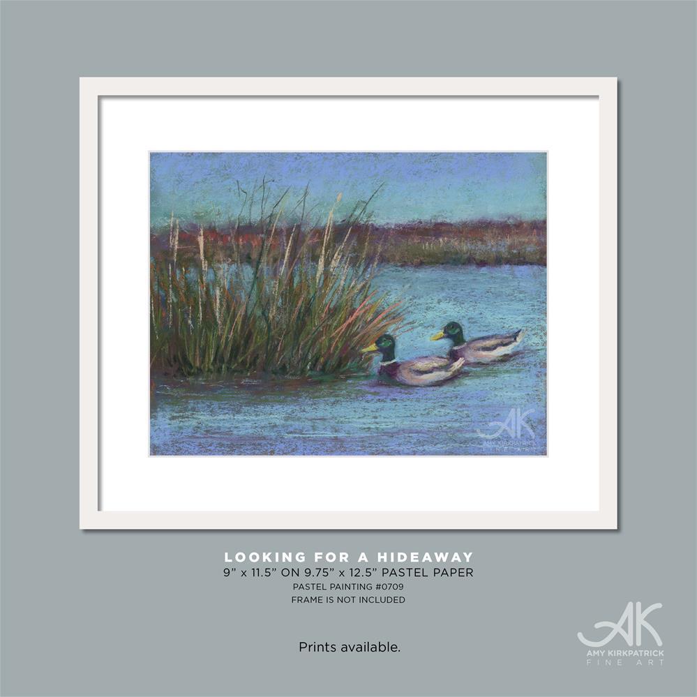 """""""LOOKING FOR A HIDEAWAY #0709"""" original fine art by Amy Kirkpatrick"""