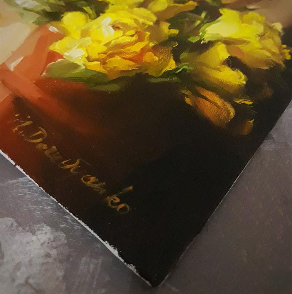 """Yellow roses"" original fine art by Natali Derevyanko"