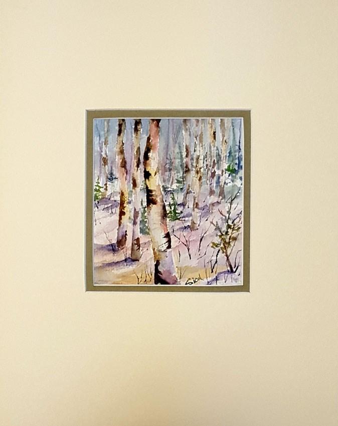 """Winter Light"" original fine art by Sue Dion"