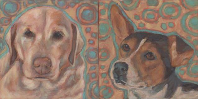 """Katie"" original fine art by Kathy Hiserman"