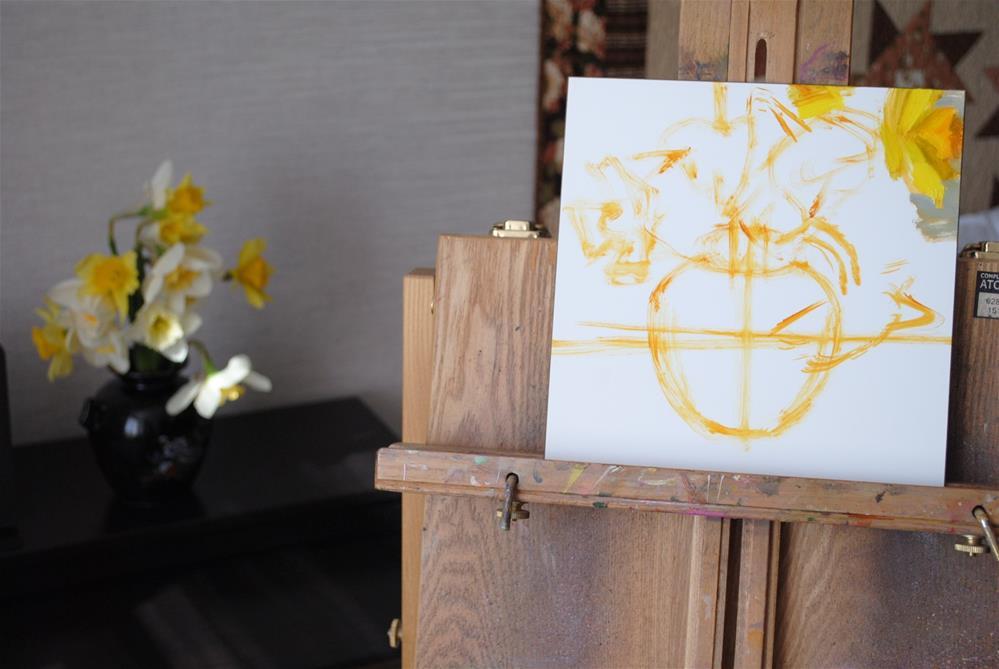 """Early May Daffodils"" original fine art by Elena Katsyura"