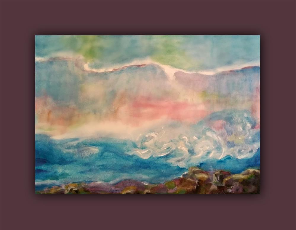 """Ocean Waves"" original fine art by Dana C"