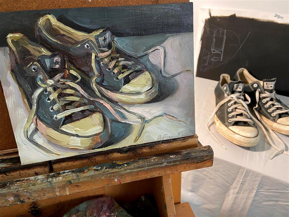 """The Converse Couple"" original fine art by Amy Freeman"