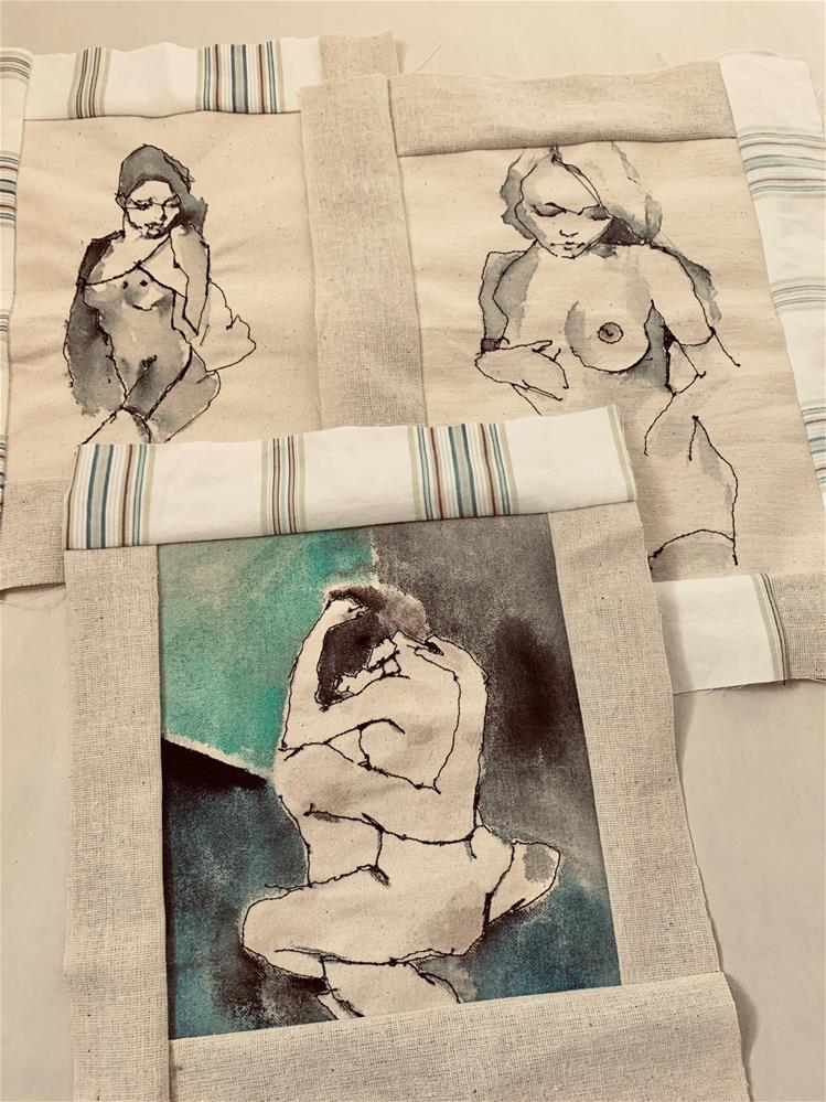 """""""751 Touch 2"""" original fine art by Jenny Doh"""