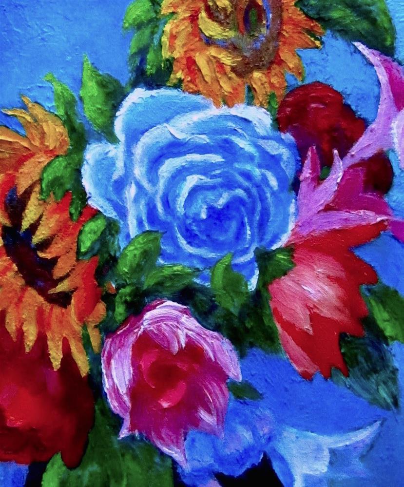 """Summer Flower Fun"" original fine art by Patricia Musgrave"