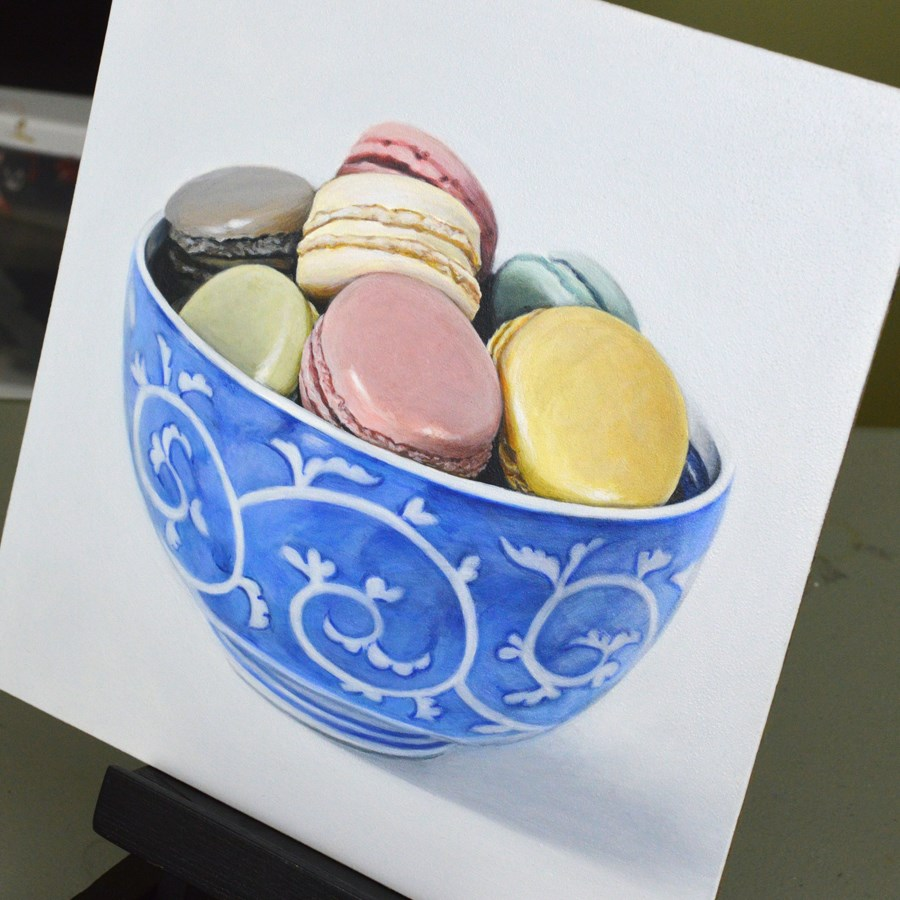 """Macaroons (commission)"" original fine art by Kim Testone"