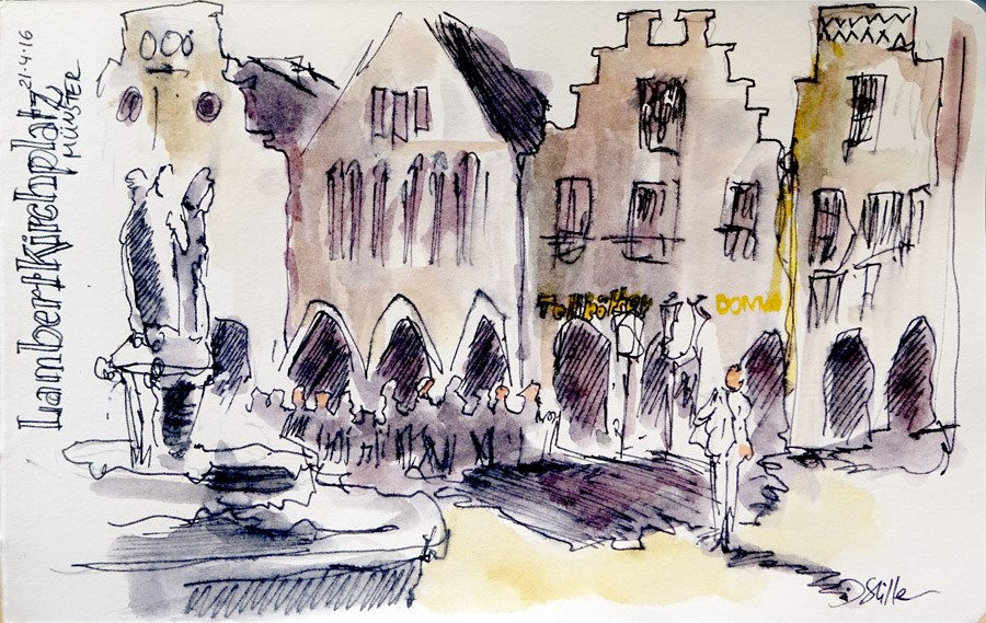 """""""1719 Sunday Sketches 19"""" original fine art by Dietmar Stiller"""