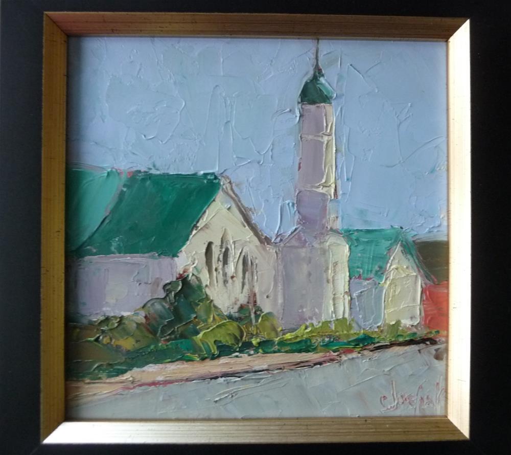 """Courthouse"" original fine art by Carol Josefiak"
