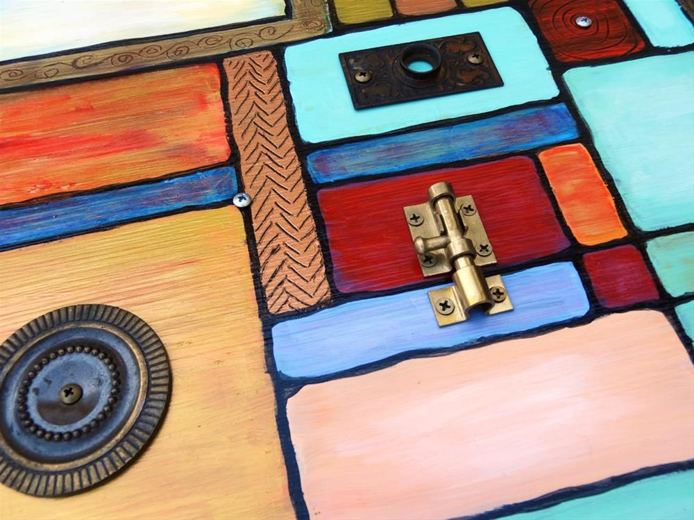 """""""THIS OLD BAUHAUS 1"""" original fine art by Ande Hall"""