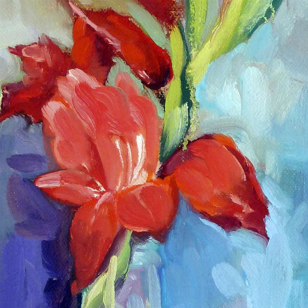 """Liquid Gladiolus 2.0"" original fine art by Catherine Twomey"