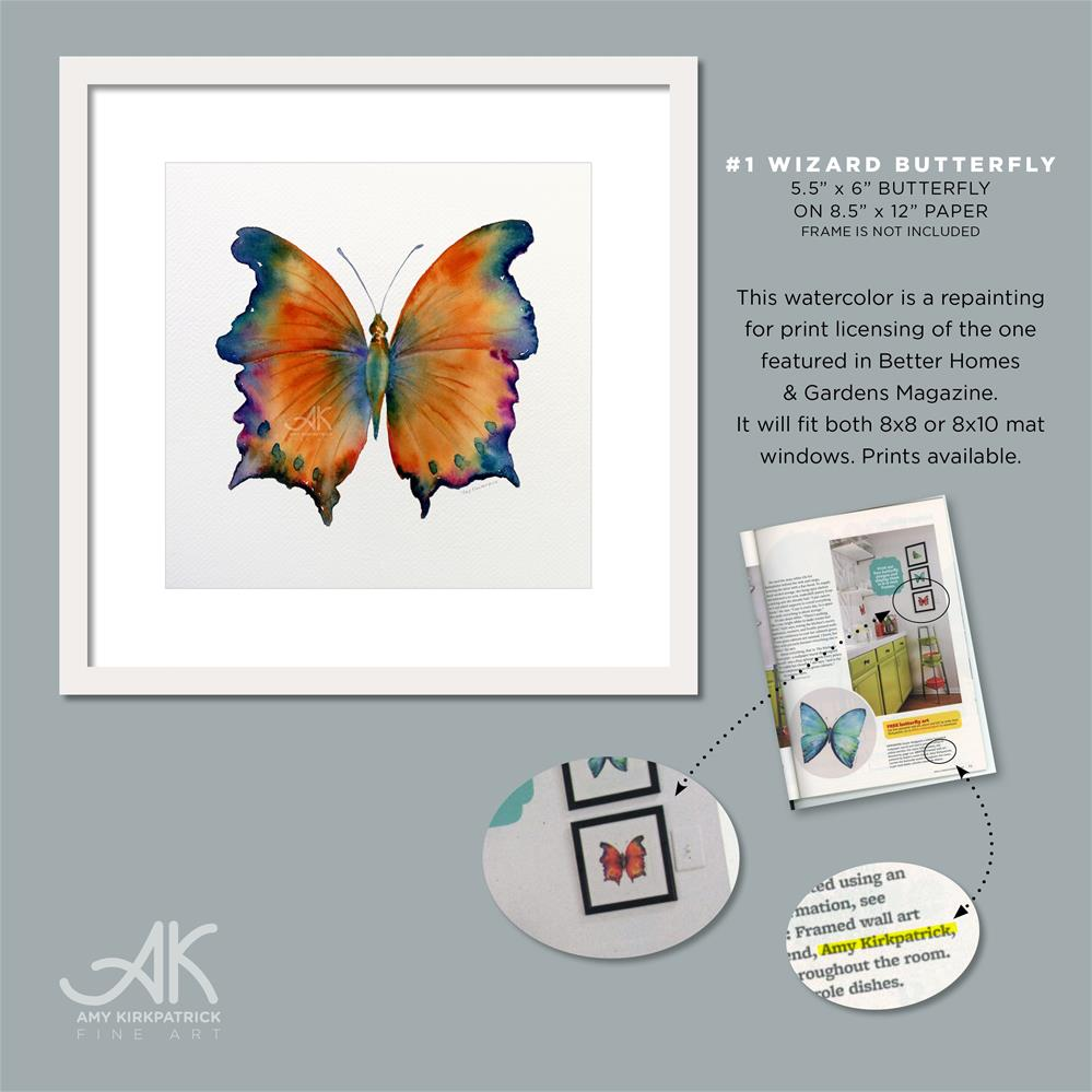 """#1 Wizard Butterfly #0294c"" original fine art by Amy Kirkpatrick"