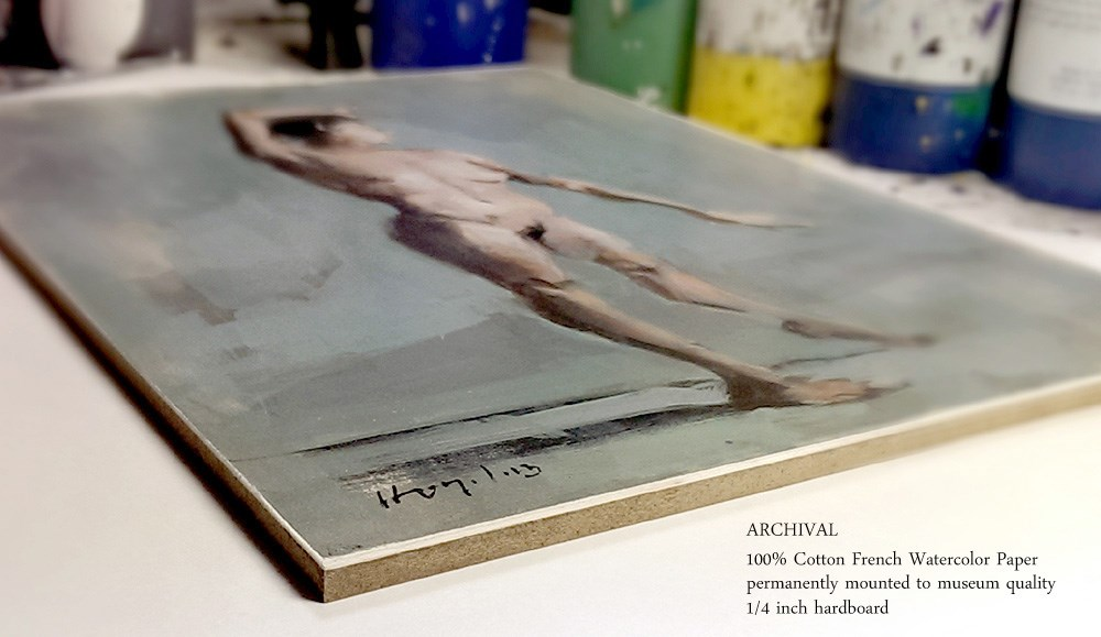 """Crossing - Alla Prima"" original fine art by David Lloyd"