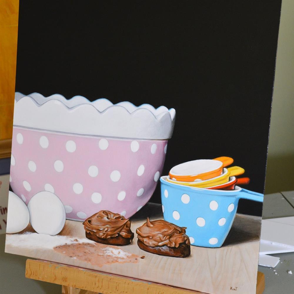 """Kitchen Commission"" original fine art by Kim Testone"