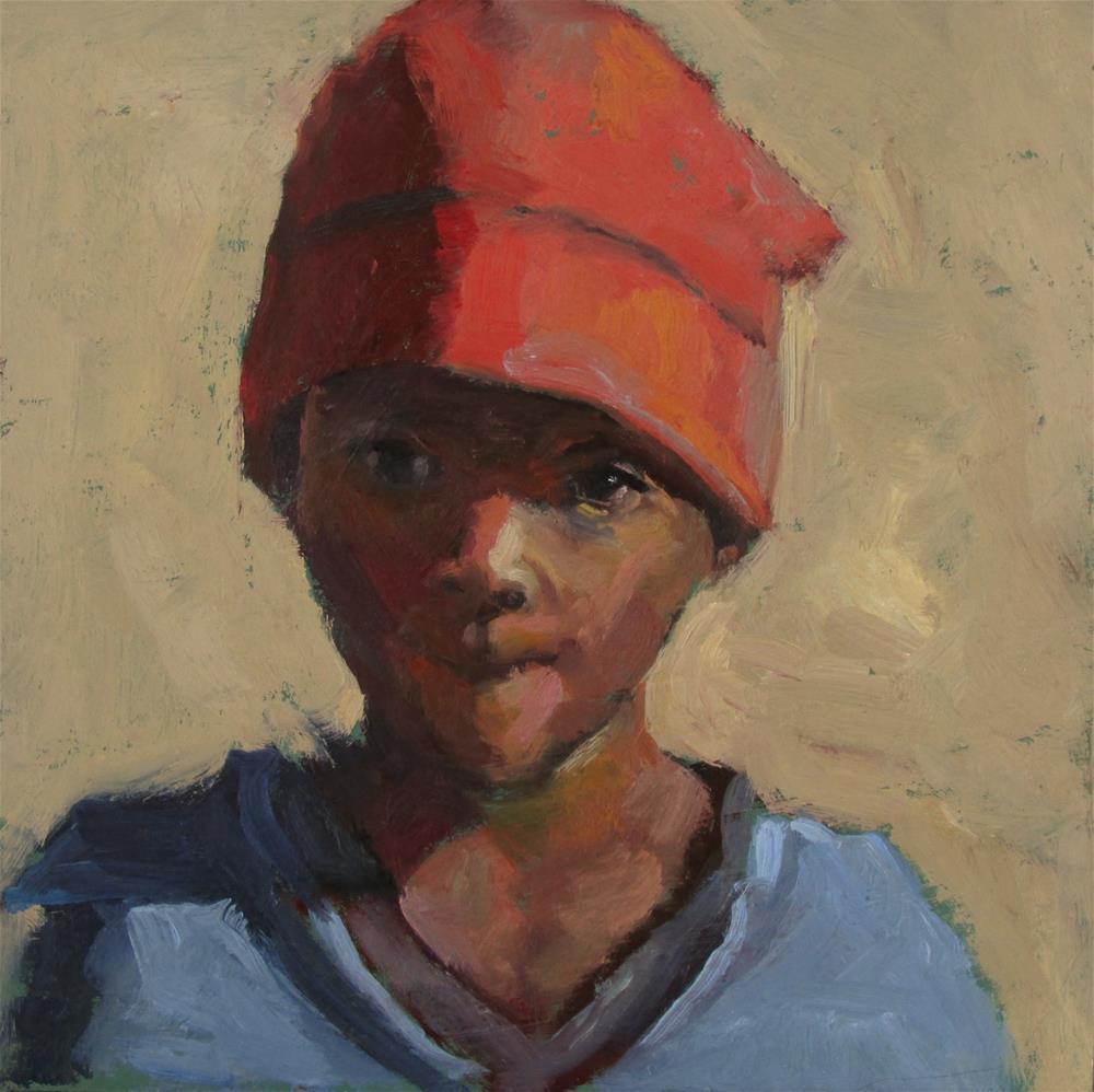 """""""The Red Hat"""" original fine art by Dana Cooper"""