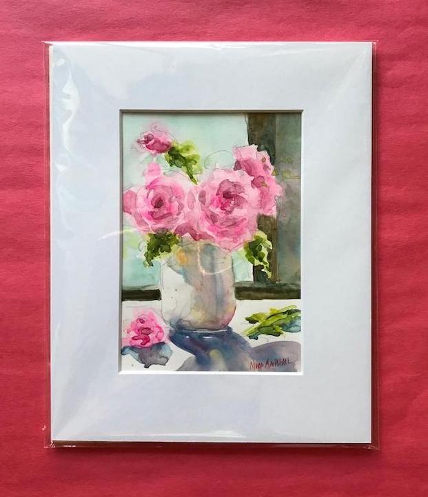 """a rosy glow"" original fine art by Nora MacPhail"