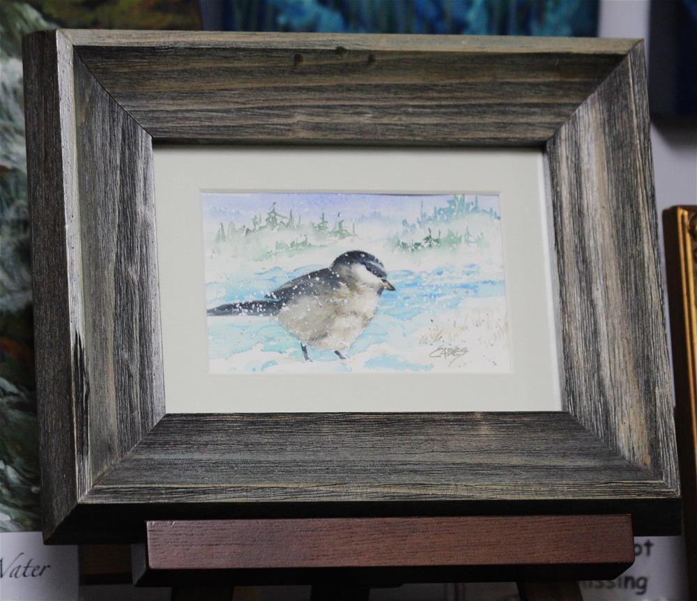 """Tiny Little Snowbird"" original fine art by Linda Eades Blackburn"