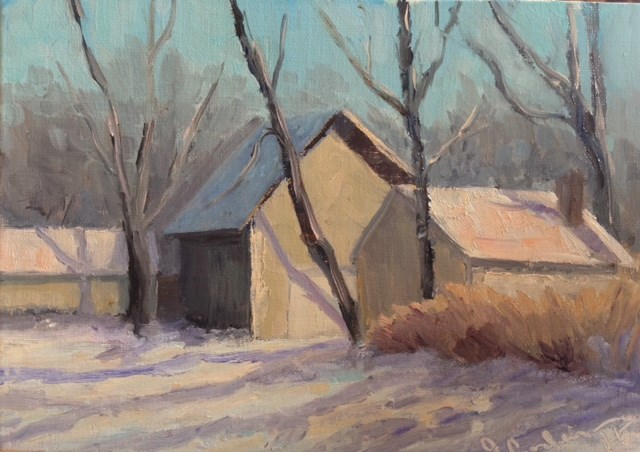 """""""Cedar Lake Road"""" original fine art by Judith Anderson"""