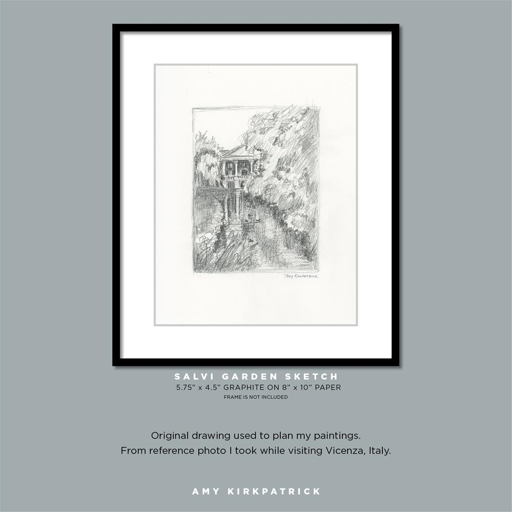 """SALVI GARDENT SKETCH #0702"" original fine art by Amy Kirkpatrick"