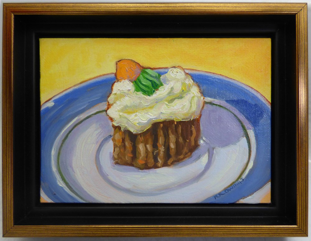 """The Last Piece of Carrot Cake"" original fine art by Rhett Regina Owings"