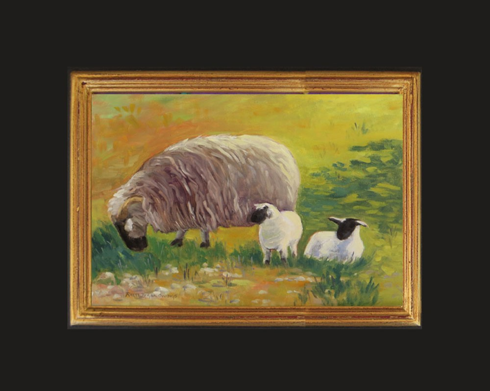 """Ewe with Lambs"" original fine art by Rhett Regina Owings"