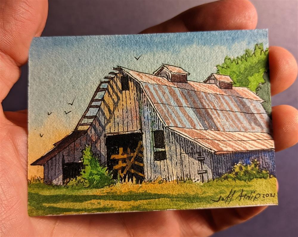 """Afternoon Barn"" original fine art by Jeff Atnip"