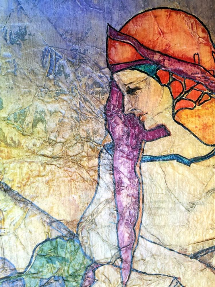 """Vineyard Harvest Zen Inspired Watercolor on Tissue"" original fine art by lynne french"