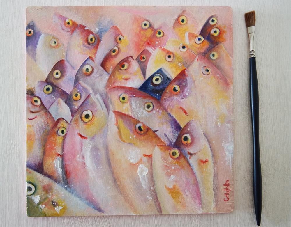 """Fish Market"" original fine art by Cathy Holtom"