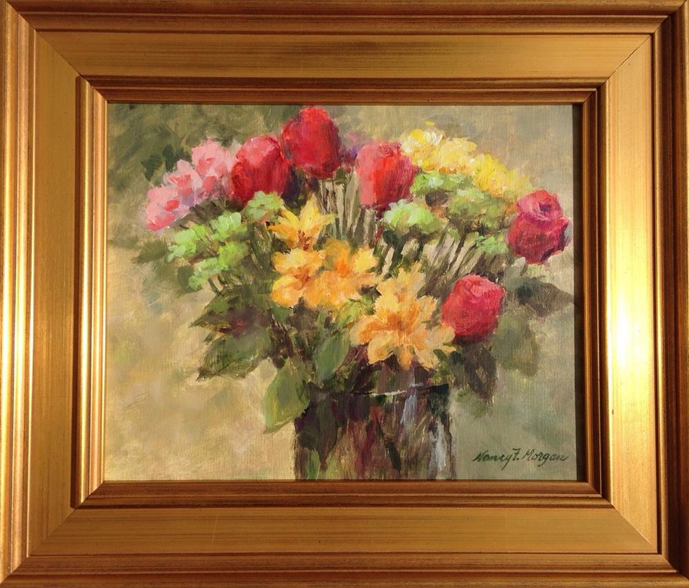 """Anne's Arrangement"" original fine art by Nancy F. Morgan"