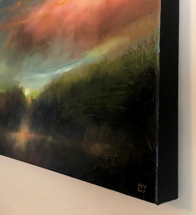 """Lingering Sunset"" original fine art by ~ces~ Christine E. S. Code"