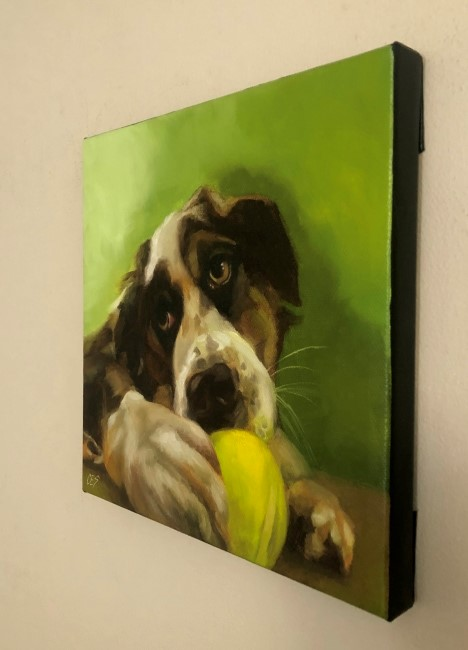 """My Ball"" original fine art by Christine E. S. Code"