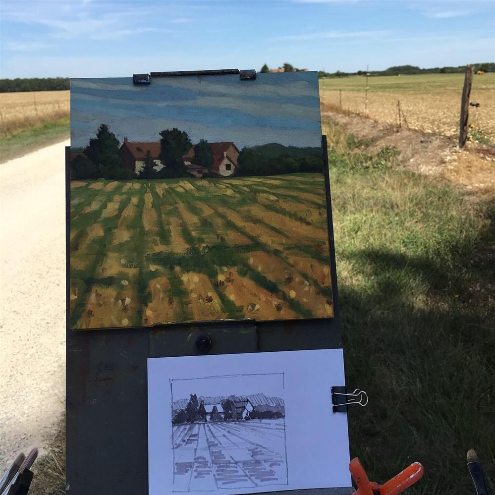 """Farm near The Brenne, France"" original fine art by Carol Granger"