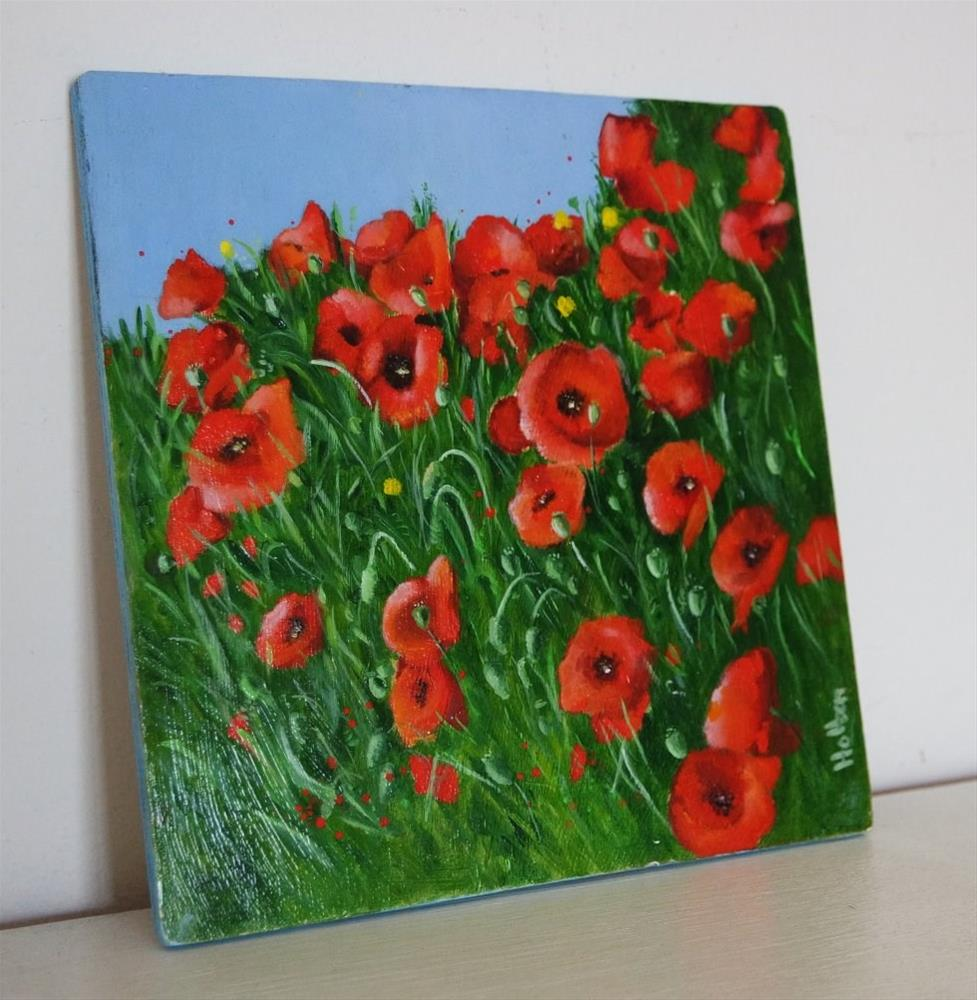 """Poppies along the road"" original fine art by Cathy Holtom"