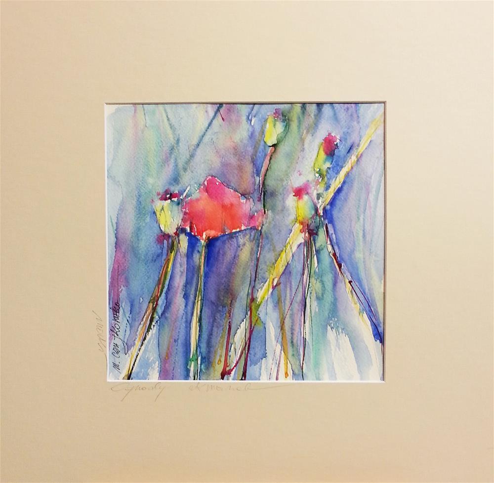"""Poppies 5"" original fine art by Marlena Czajkowska"